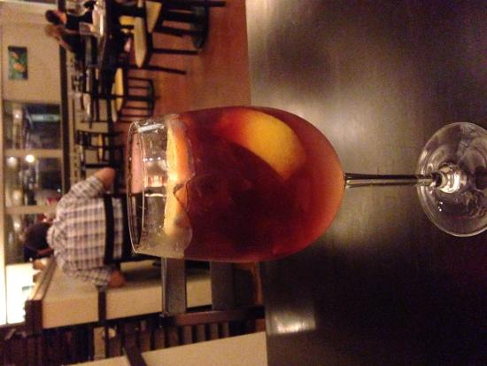 Josselin's Tapas Bar & Grill: Lychee sangria with a touch of pomegranate is a winner