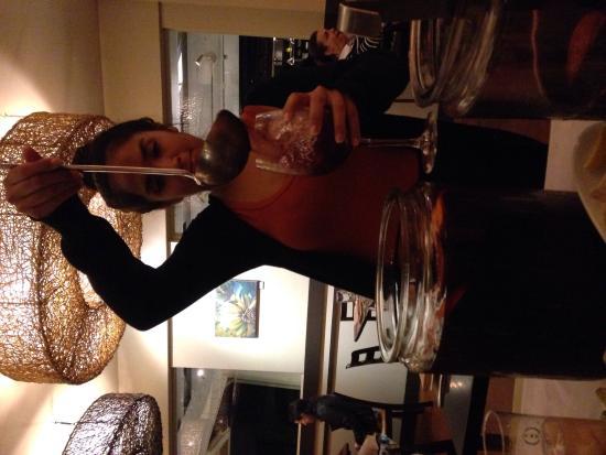 Josselin's Tapas Bar & Grill: The sweet sangria girl