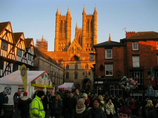 Lincoln Christmas Market : the markets and cathederal