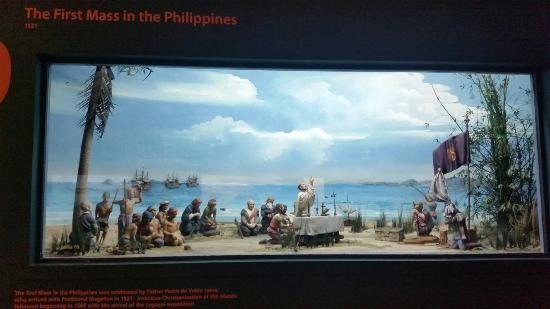 Ayala Museum: Exhibition showing the first mass in the Phillipines