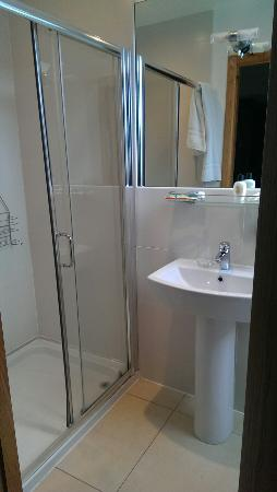 Eyre Square Townhouse: Excellent quality modern bathroom with huge double shower and wide rain shower head,  good water