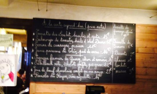 Caves Madeleine : The menu