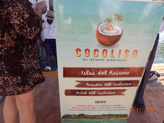 Hotel Coco Liso: No cais para embarque a ilha