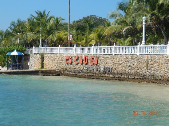 Hotel Coco Liso: Chegada a Isla