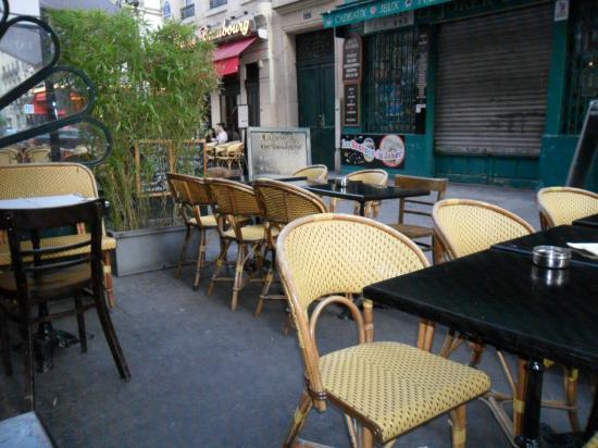 Le Verre Luisant: terraza