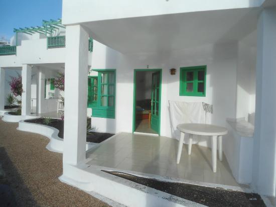 Luz y Mar Apartments : our little patio