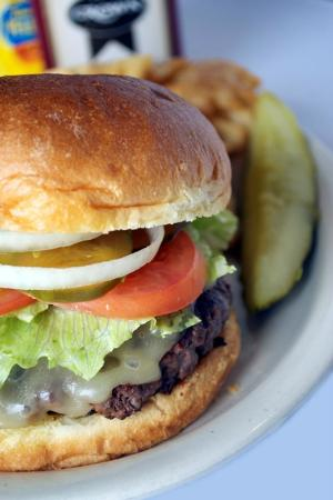 Wanglers Wagon Wheel : The Wagon Wheel Burger, 1/2 pound ground fresh in house!