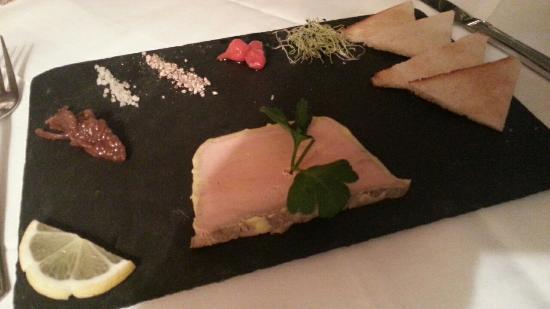 Le Clocher Voltaire: Foie gras maison. Miam.