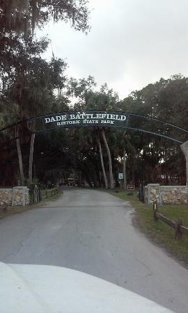 Dade Battlefield State Park : Just arriving!