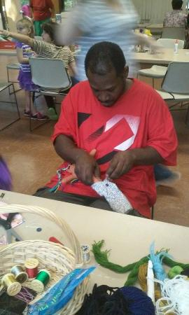 Dade Battlefield State Park : Making rag dolls!