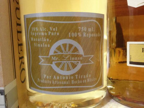 Mr. Lionso Playa Bruja: House made tequila