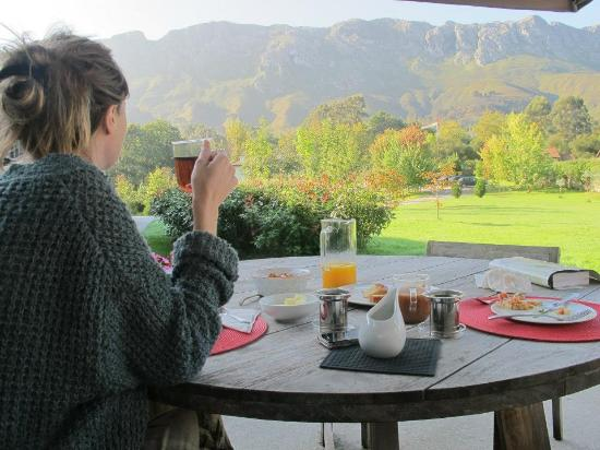 Hotel Cae a Claveles: What a view over breakfast!