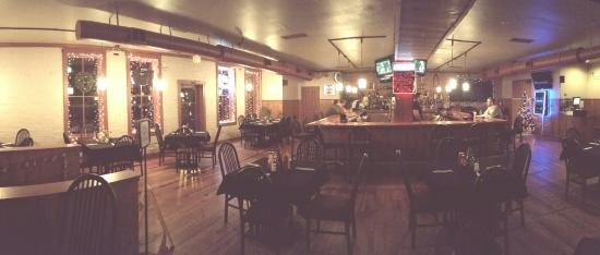The Sequestered Tavern : Quiet night at Sequestered Tavern...with Christmas decorations.
