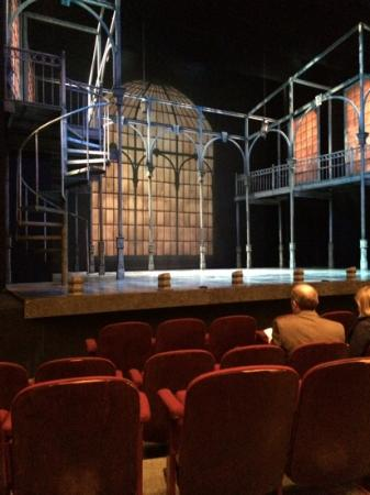 Clarence Brown Theatre: 4th row setting. Not a bad seat in the house.