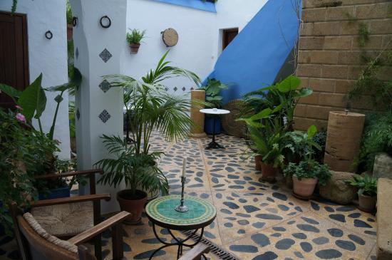 Casa Alborada: Sitting area in the back yard. For breakfast of wine at night.