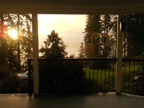 4 Beaches Bed & Breakfast : Morning view from Mystic Beach room
