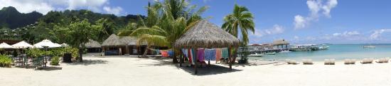 Pareo Perso: L'atelier du soleil, sur la plage de l'Intercontinental de Moorea