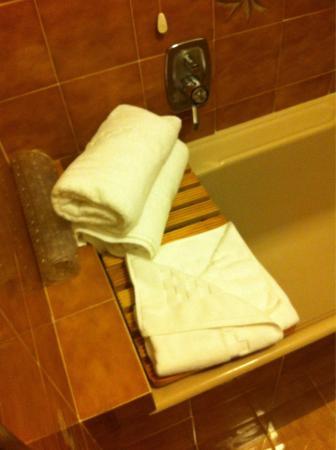 Particolare del bagno nella camera 102