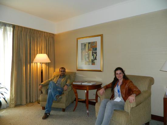 Melia Buenos Aires: Con mi esposa en la habitación del hotel