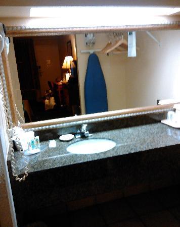 Quality Inn Kennedy Space Center: Bathroom area