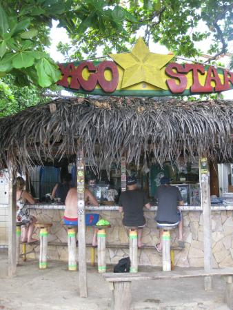 Taco Star : Having some beer and tacos