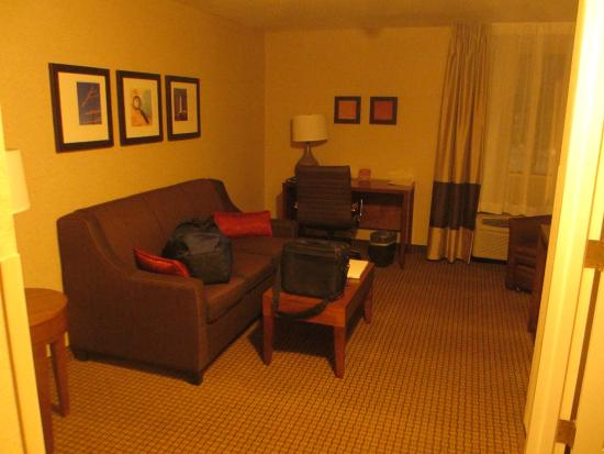 Comfort Inn - Boston: Sitting area in the King Suite.