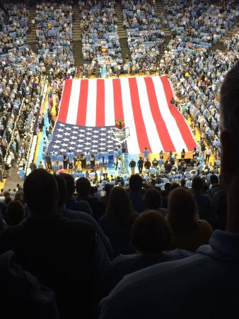 Dean E. Smith Center: American pride in a great American town at the best University in the State of North Carolina! G