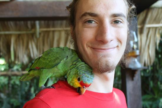 Mountain Equestrian Trails: My and my new Parrot friend, Chulo