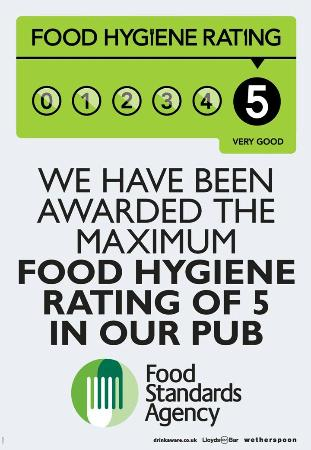 5 Food Hygiene Rating Picture Of The Raven Liverpool