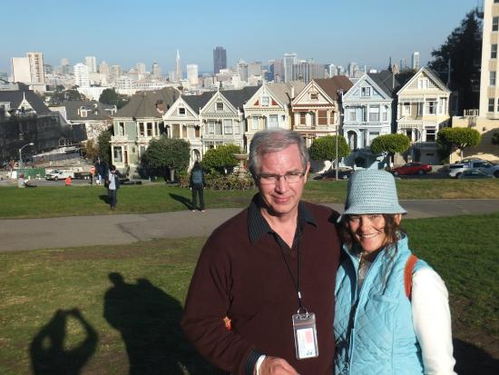 The Real S.F. Tour: Eli took this picture for us at the painted ladies.
