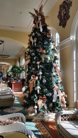 Christmas tree in the grand lobby   Picture of Hotel Galvez & Spa