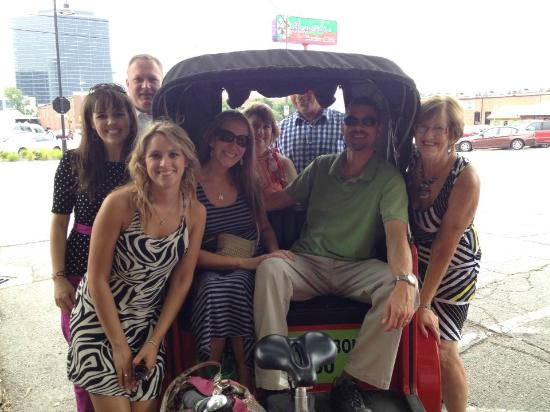 Tulsa Pedicabs Restaurant Tours : Pedicab tour for 8!