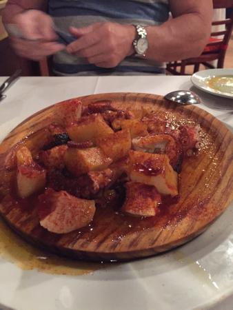 Jamon Iberico Pata Negra Restaurant: Pulpo a la Gallega