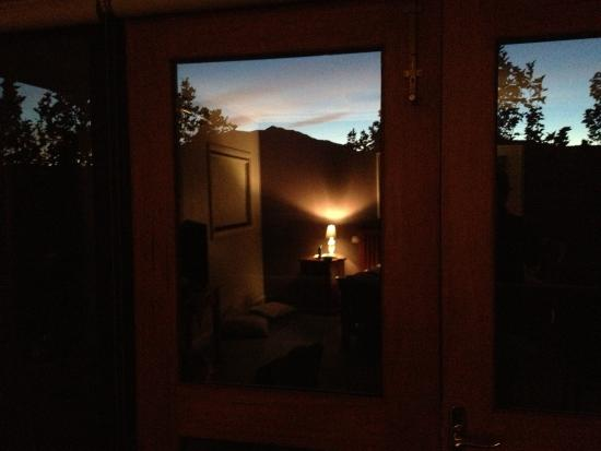Birches Luxury Spa Chalets : sunrise from our bed