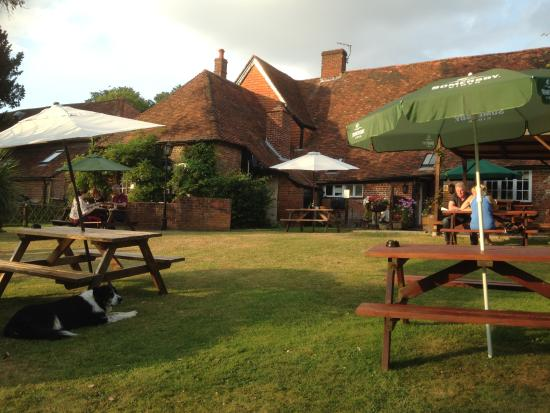 Wisteria Cottage B&B : beer garden at the pub