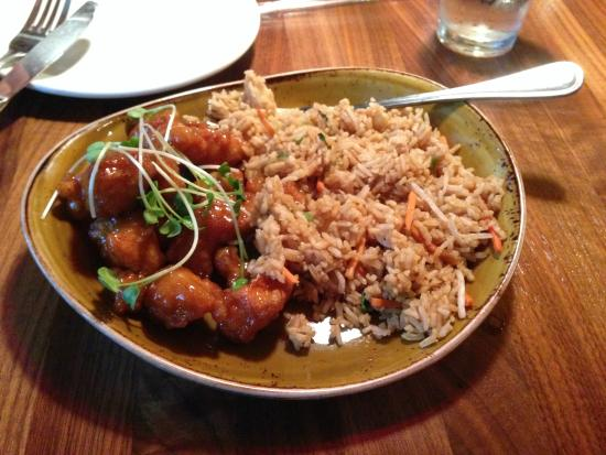 P.F. Chang's: Orange Chicken with Fried Rice