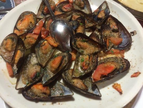 San Martino: Cozze gratinate