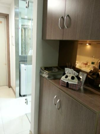 kitchen cabinets - Picture of Chengdu Panda Apartment ...