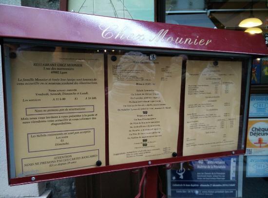 devanture du restaurant picture of chez mounier lyon