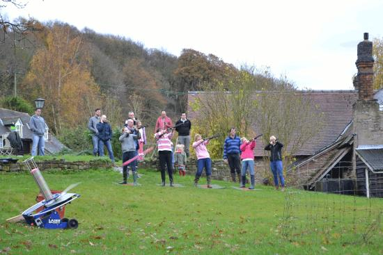 Cradley, UK: Laser Clay Pigeon Shooting