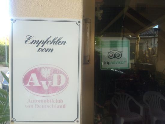Hotel Villa Marita: Consigliato dall'Automobil Club Tedesco...