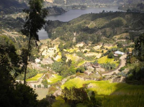 Ambo, Ethiopia: View overlooking the community and part of the lake