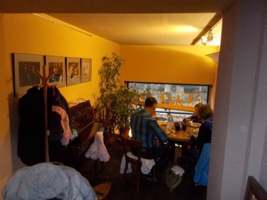 Cafe Aha: inside the café