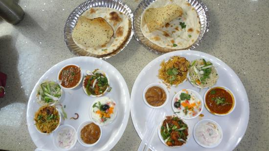 Skywalk (ampa Mall): Two plates of Bombay thali