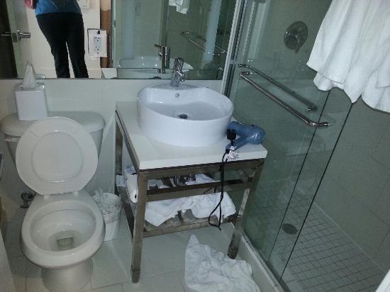 Banheiro pequeno  Picture of Pestana South Beach Art Deco Hotel, Miami Beach -> Lixeira Banheiro Pequeno