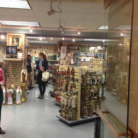 The gift shop down stairs - Picture of Basilica of the National ...
