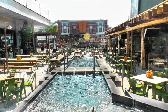 Infinity Pool Chicago outdoor patio infinity pool picture of deuce s the diamonds
