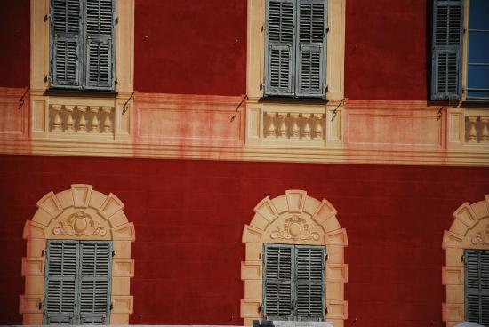 Musee Archeologique de Nice-Cimiez : Détail façade