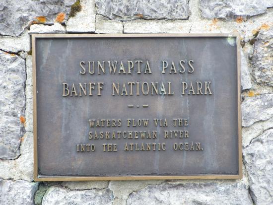 Sunwapta Pass: 峠の碑文