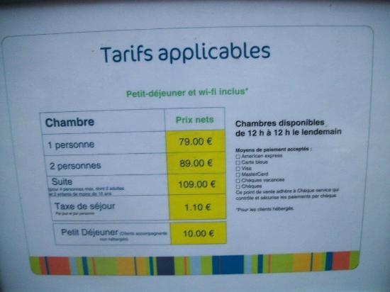Ibis Styles Lille Centre Gare Beffroi : Tarif des chambres